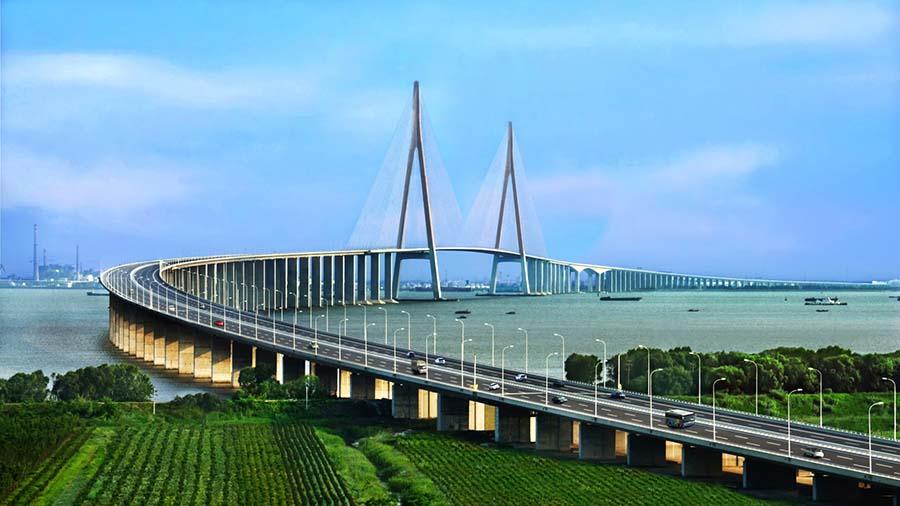 苏通大桥——世界首座超千米斜拉桥