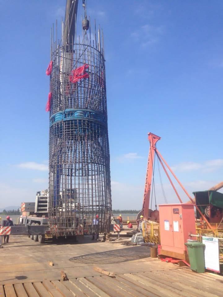 南京东大自平衡桩基检测有限公司在广东某高速完成6根试桩下钢筋笼/自平衡测试/成孔检测