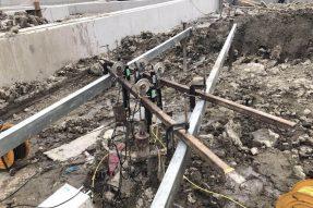 宁波市轨道交通4号线土建工程TJ4006标(兴宁桥东站)工程完成2根试桩下钢筋笼/自平衡测试