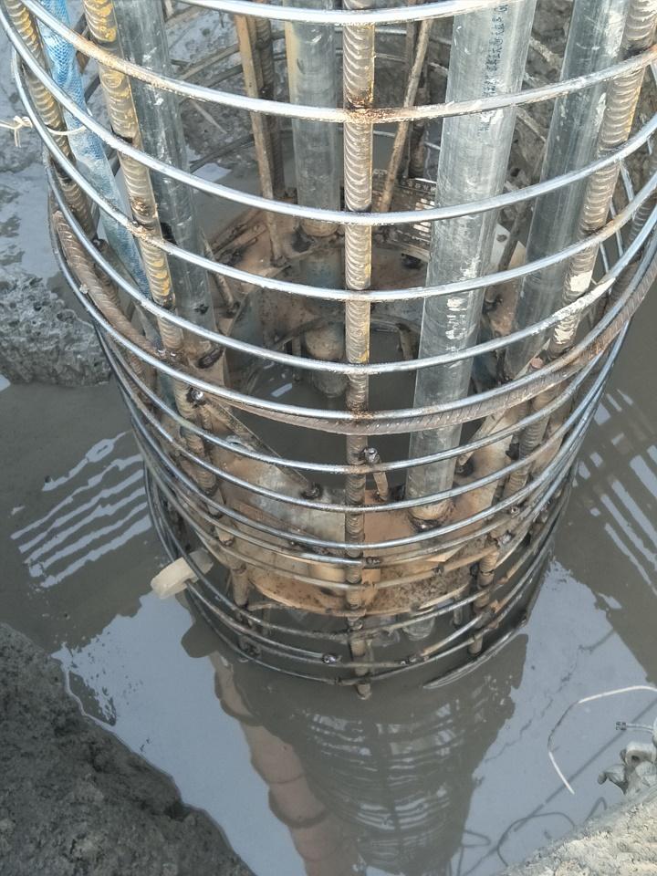 宁波市轨道交通3号线一期工程出入段线矩形盾构设计、施工、科研总承包完成5根试桩下钢筋笼/自平衡测试