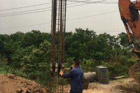 茅山温泉谷新建工程 完成3根试桩自平衡测试