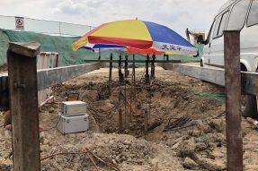 南京地铁1号线北延工程土建施工D1N-TA04标出入场线区间 工程完成3根试桩自平衡测试