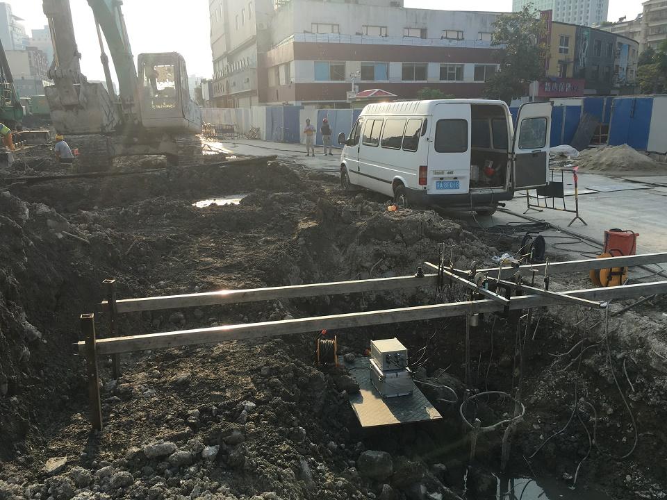 宁波市轨道交通4号线土建工程TJ4006标(白鹤站)完成6根试桩自平衡静载测试